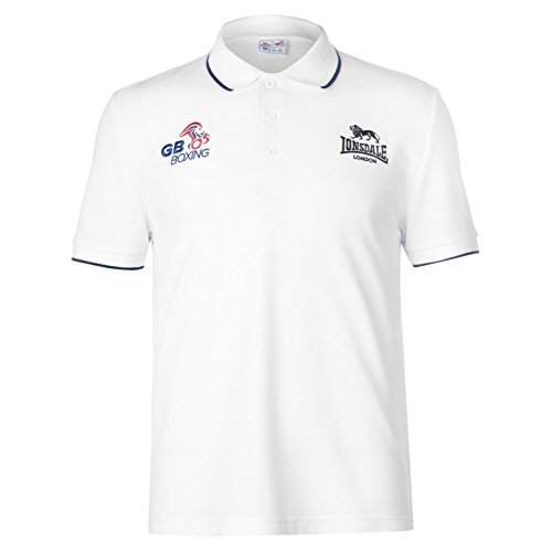 Lonsdale Mens GB Boxing Polo Shirt Crew Neck Tee Top