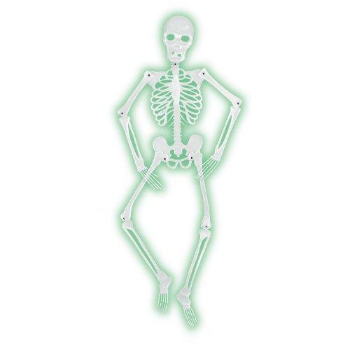 Glo Skelett für Halloween-Party, 152 cm ()