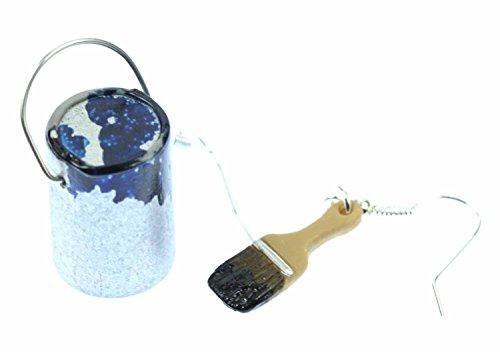 farbeimer-pinsel-set-ohrringe-farbe-lack-miniblings-maler-kunstler-malerset-blau