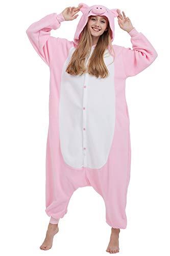 Pijama Kigurumi Animados Cosplay Cerdo Rosa Animal para Adulto Unisex