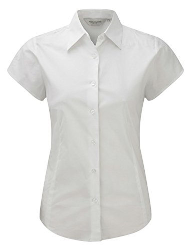 Russell à manches courtes pour femme-Shirt à manches longues pour homme Entretien facile Blanc - Blanc