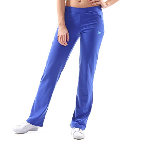 Sportkind Mädchen & Damen Tennis/Fitness/Sport Trainingshose, kobaltblau, Gr. S