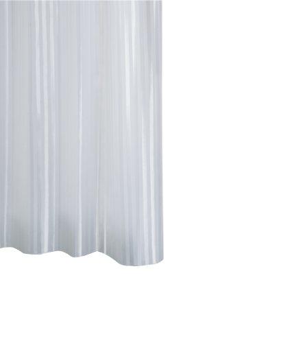 RIDDER 47851-350 Duschvorhang Textil ca. 180 x 200 cm, Satin weiß inklusive Ringe Polyester-textil