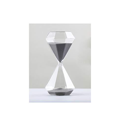 Heng clessidra, lo stile di design creativo in stile diamante, grande/medio/piccolo da scegliere, può essere utilizzato come decorazione per il desktop (nero, grigio, bianco) toy home office table