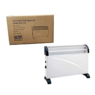 Elitezotec © 2000w Portable Convector Heater Electric Thermostat Free Standing Wall Mounted 3 Heat Settings Fan 2kW