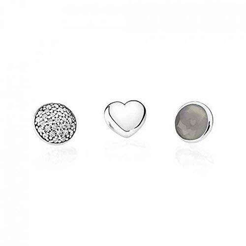 Pandora - set di gioielli da donna in argento 925,pietra di luna, grigio-792091msg