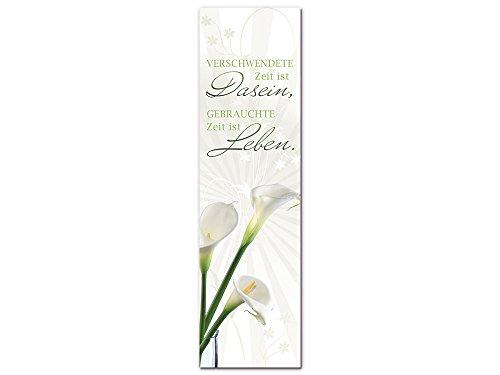 GRAZDesign Acrylglasbilder Moderne Bilder Calla, Dekoration für Schlafzimmer Weißer Hintergrund, Wandbilder Wandspruch / 50x180cm