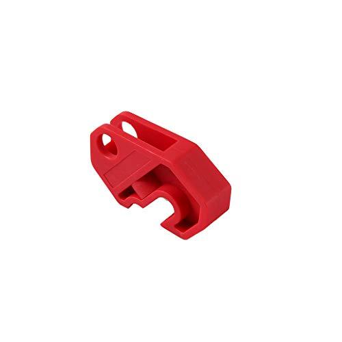 perfk Universal Schutzschalter Schalter Verriegelung Abschaltung Werkzeug Verriegelungshaspe mit verdrehter Schraube, Rot -