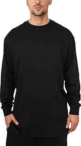 Herren Longsleeves in 32 Farben und Designs Longshirt Sweatshirt T-Shirt, Größe:5XL, Farbe:schwarz 009 (Sleeve Classic Cashmere Long)