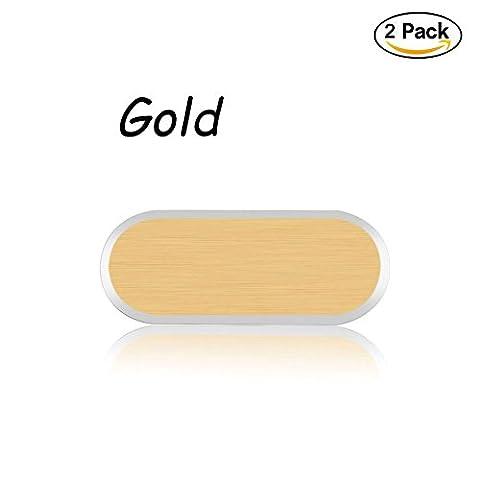 Youbeautify Metall-Aluminium-Legierung Home Button Schutzh¨¹lle Fall Deckung Handy Home Keypad Keycap F¨¹r Samsung Galaxy S6 / S7 Edge (2 Packs, Gold)