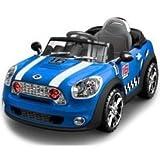 Auto Elettrica Coupè Blu della Colibrì. Funzionale, divertente e di tendenza. Ha tutto per conquistare grandi e piccoli, dalla radio alle mille luci e suoni. Dotato di radiocomando.  Dimensioni: 111x63x51 cm. Età + 2/3 anni.
