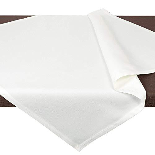 Tischdecke Mitteldecke VENEZIA / 85x85 cm / weiß