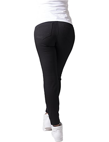 Urban Classics Damen Hose Ladies Stretch Biker Pants Schwarz (Black 7)
