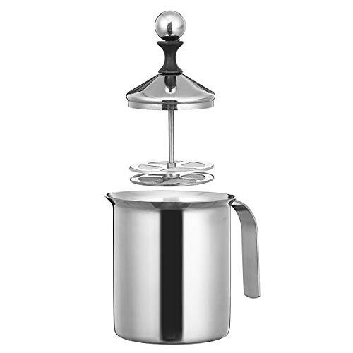 ahl Manuelle Doppel Mesh Milchaufschäumer Kaffee Cappuccino Foam Maker New ()