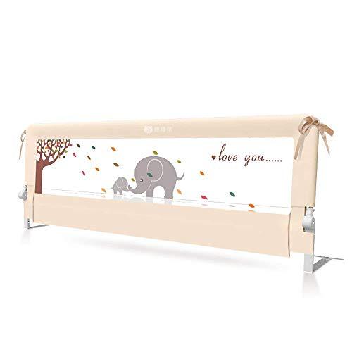 BABY BBZ Bettgitter - Einzelfaltenschutz für Bettschutz 150mx68cm, für Kleinkinder, Kinder und Kinder, robust und tragbar (150cm, beige)