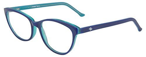 FADDISH Full Rim Cat Eye Women's Spectacle Frame - (M-540-52-BLGR|50)