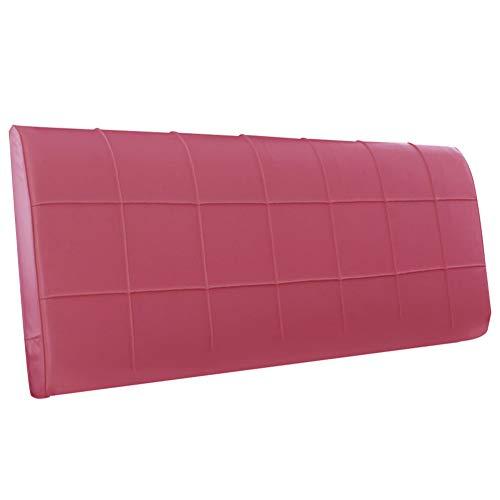 X-L-H Abnehmbare Waschbar Kein Kopfteil Bett Rückenpolster Bettdecke Leder Weiches Kissen Lendenkissen Kopfstütze 5 Farben (Farbe : Rose rot, größe : 160x8x58cm) (Lendenkissen Leder)