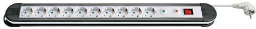 Preisvergleich Produktbild 5er Set goobay Steckerdosenleiste Überspannungsschutz (10x Schutzkontakt Kindersicherung) 1,4 m