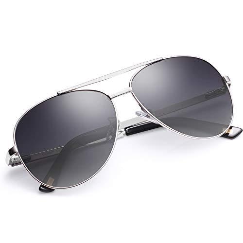 Carfia UV400 Schutz Polarisierte Damen Herren Sonnenbrille Pilot Brille für Fahren, Freizeit und...