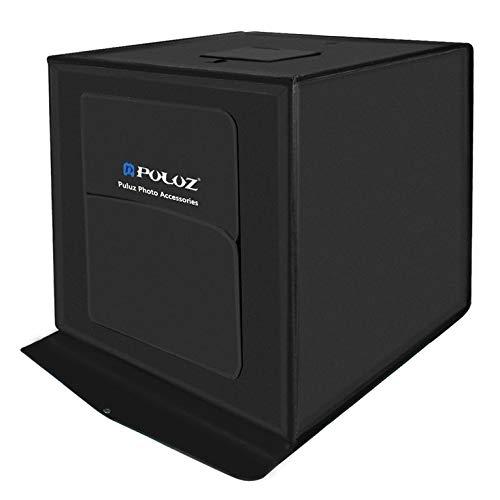 PULUZ 40 * 40cm Faltbare LED-Lichtbox Fotostudio Fotografie Zelt Box Kit-schwarz