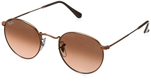 RAYBAN JUNIOR Herren Sonnenbrille Round Metal Shiny Light Bronze/Pinkgradientbrown, 50
