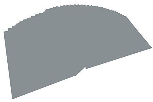 folia 6484 - Tonpapier steingrau, DIN A4, 130 g/qm, 100 Blatt - zum Basteln und kreativen Gestalten von Karten, Fensterbildern und für Scrapbooking (Graues Papier)