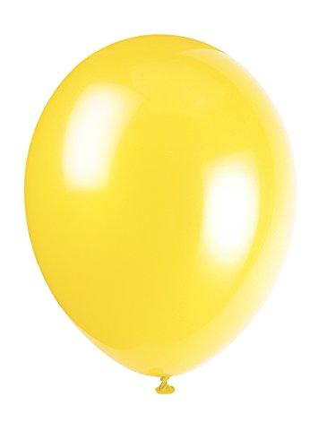 Unique Party Globos de Fiesta de Látex, 50 Unidades, Color (Canary Yellow), Pack of 50 (56845)