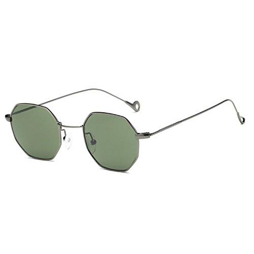 Fansport Unisex Sonnenbrille Travel Sonnenbrille Metallrahmen Octagon Geometrische Sonnenbrille