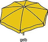 Beauty.scouts Sonnenschirm Gartenschirm Großschirm Porto cm rund 400 cm - Gelb