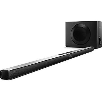 Philips HTL7140B/12 Soundbar with Wireless Subwoofer - Black: Amazon.co.uk: TV