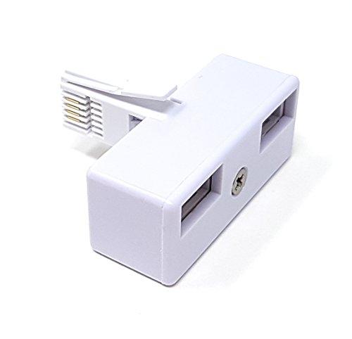 maincore M (Core BT Stecker auf 2Wege Buchsen x 2BT Telefon Lines Telefon/Fax/Modem Kabel/Adapter/Splitter/Konverter/Extender/Verlängerung/Adapter. Telefon Line Splitter