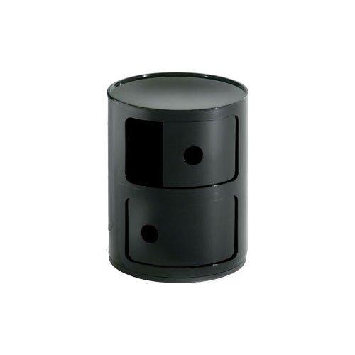 Kartell 496609 - Mueble de almacenaje con 2 puertas, color negro