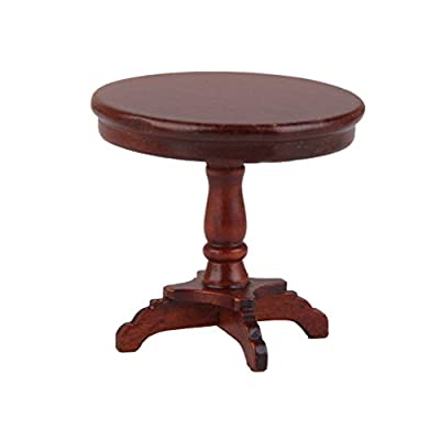 1/12 Dollhouse Wooden Furniture Miniature Round Table - cheap UK coffee table store.