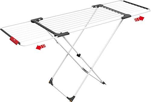 Vileda Surprise Tendedero Extensible, Acero Inoxidable, Blanco, 133.0x12.5x62.0 cm