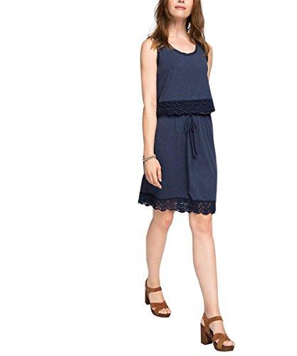 ESPRIT 066EE1E015 - Crochet Broder - Robe - Femme Bleu - Blau (NAVY 400)