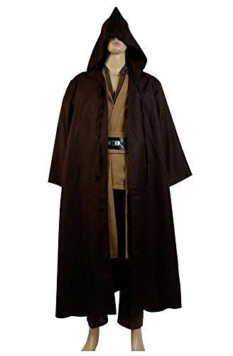 Star Wars Kenobi Jedi TUNIC Cosplay Kostuem Braun (Shirt Star Kostüme Wars)