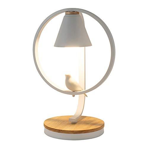 SHAOYH Lámpara de mesa pequeña nórdica E27 Dormitorio creativo Lámpara de cabecera IKEA Dormitorio Lámpara de escritorio Estudiantes universitarios LED Luz nocturna de lectura Moderna Personalidad cre