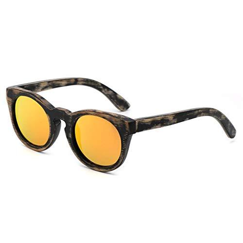 MWPO Sonnenbrille polarisierte Bambus Outdoor Fahren Dekoration schießen Anti-uv Filter Glare männer und Frauen Brille (Farbe: orange linse)
