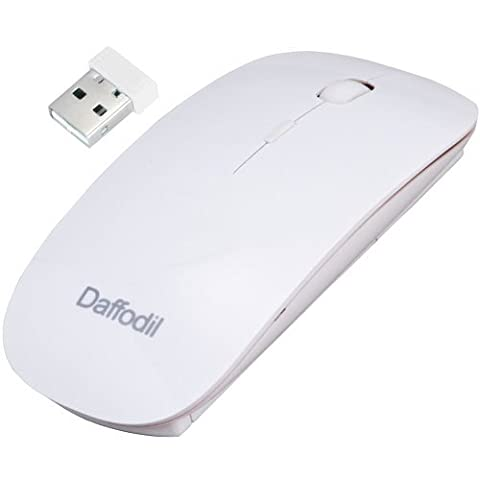 Daffodil WMS500 - 3 Button Wireless Mouse - Slimline PC and MAC Compatible Mouse with Srollwheel and Adjustable DPI