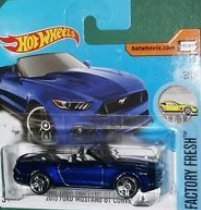 Preisvergleich Produktbild Hot Wheels 2017#104 - 2015 Ford Mustang GT Convertible blue