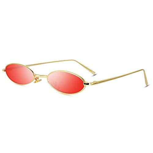 abfd7b5be9 AMZTM Gafas de Sol Ovaladas Vintage - Gafas Retro Con Marco de Metal  Pequeño para Chicas