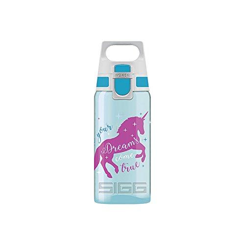 Sigg 8686.60 Trinkflasche Viva ONE 'Unicorn' Einhorn, 500 ml, blau/pink (1 Stück)