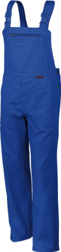 Latzhose QUALITEX 270, 5 Farben, einlauffeste Baumwolle, Größe 44-64, 90-110 52,Kornblau