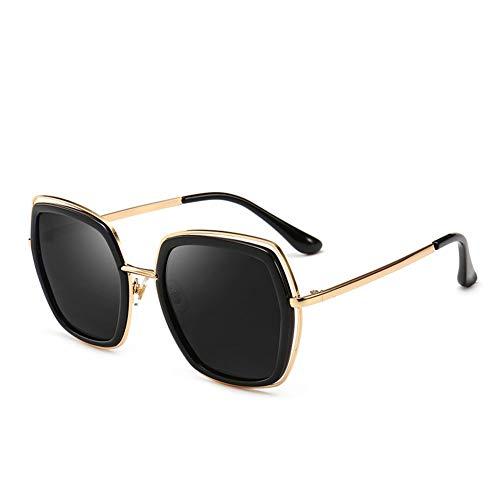 Polarisierte Sonnenbrille Frauen Metall Katzenaugen Helle Film Frauen Uv-schutz, Geeignet Für Dekoration, Sonnenschirm, Reise, Fahren.Geeignet Für Eine Vielzahl Von Gesichtstypen ( Color : Black )