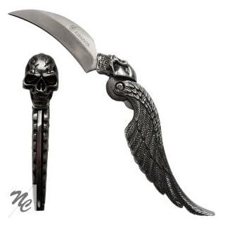 Albainox Schädelmesser, Totenkopfmesser, Taschenmesser mit vollplastischem Schädel