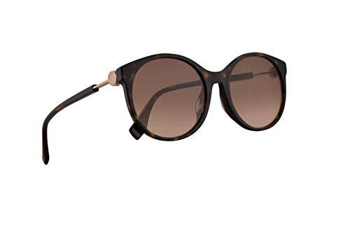 Fendi FF0362/F/S Sonnenbrille Dunkel Havana Mit Braunem Pinken Verlaufsglas Gläsern 56mm 086M2 0362FS FF 0362/F/S