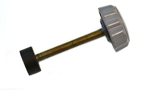 Pomo de repuesto con abrazadera roscada con tapa para mesa de aluminio de precisión EISCO, 40 cm de diámetro (PH0347CN8)