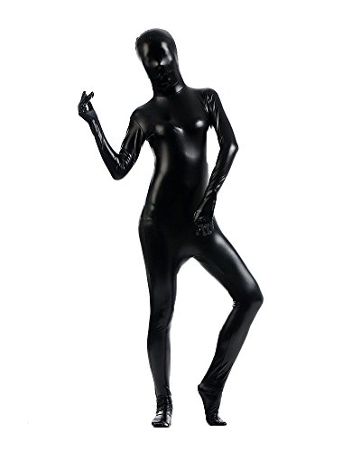 Ganzkörperanzug Kostüm Ganzkörper Anzug Suit Halloween Kostüm Schwarz (Skin Second Spiderman Kostüm)
