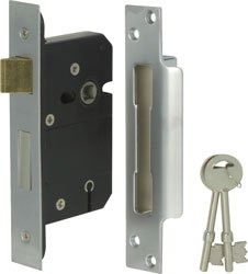BS ALTA SEGURIDAD 5 PALANCA DEADLOCK 76 MM CROMO SATINADO