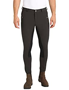 Ultrasport Men's Riding Breeches with Alos Full Seat - Anthracit/Anthracit, Size 48 (32 Inches Waist/32 Inches Length)